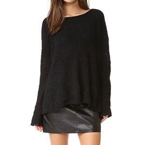 BB DAKOTA Black Knit Tally Sweater